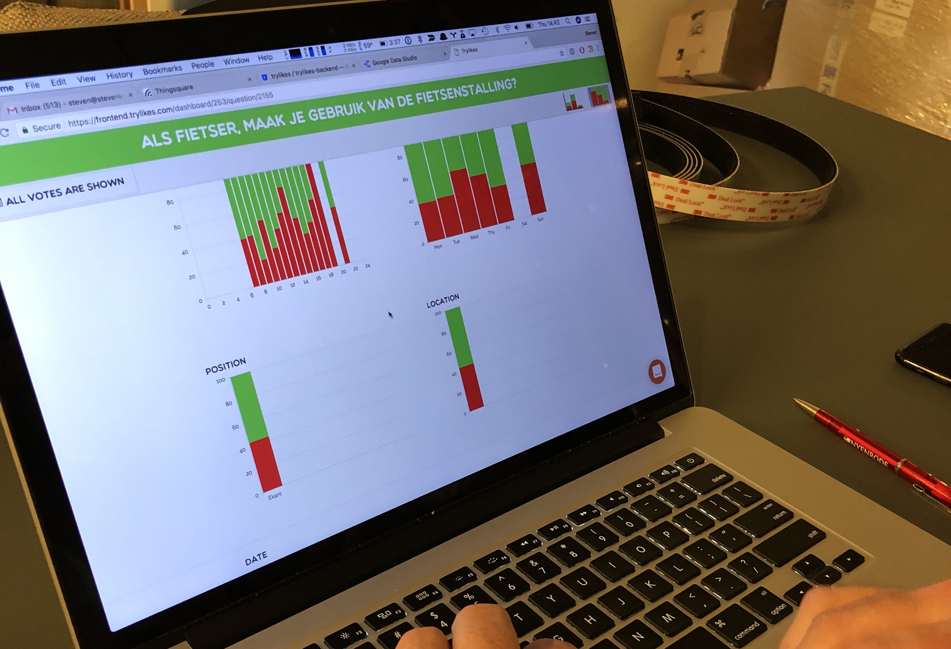 Solution d'analyse IoT pour les boutons de satisfaction client TryLikes