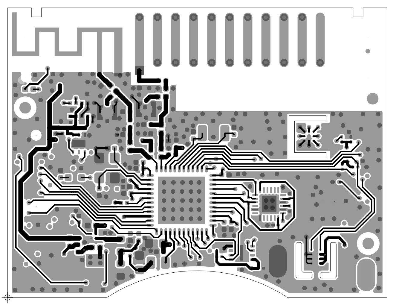 The Thingsquare Blog How To Design Compatible Hardware Combination Lock Using Msp430 Launchpad Circuit First Cc1350 Sensortag Has A Small Size 24 Ghz Pcb Antenna Together With Miniature Helical Cc2650