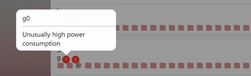 an error message